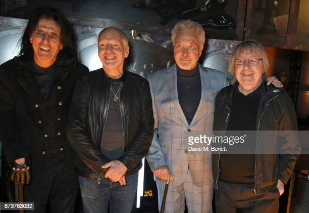 Alice Cooper Peter Frampton Sir Tom Jones and Bill Wyman attend the unveiling of 'The Adoration Trilogy Searching For Apollo' by Alistair Morrison...