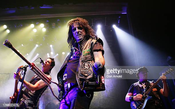 Alice Cooper plays live on stage at the Enmore Theatre on September 26 2011 in Sydney Australia