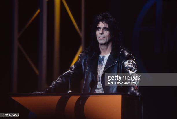 Alice Cooper presenting on the 17th Annual American Music Awards Shrine Auditorium January 22 1990