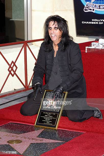 Alice Cooper Receives His Star On The Hollywood Walk Of Fame Stock