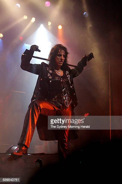 Alice Cooper rock singer from the USA performs with his band at the Enmore Theatre 23 June 2005 SMH Picture by DOMINO POSTIGLIONE