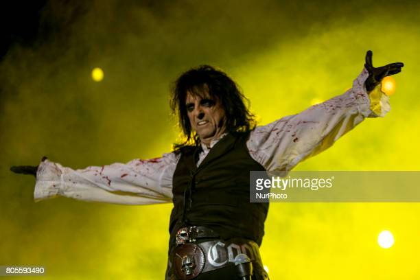 Alice Cooper singer of Alice Cooper Band during his performance at Rock Fest Barcelona 2017 Festival in Santa Coloma Spain on July 01 2017