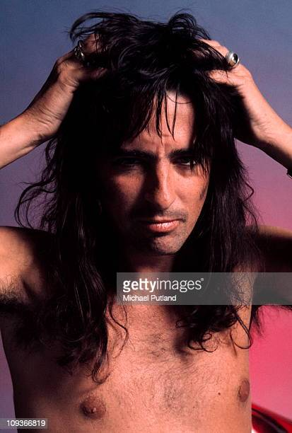 Alice Cooper studio portrait London 1974