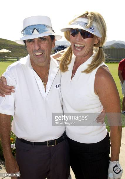 Alice Cooper Susan Anton during The 2002 ESPY Awards Celebrity Golf Classic at Lost Canyon Golf Club in Simi Valley California United States