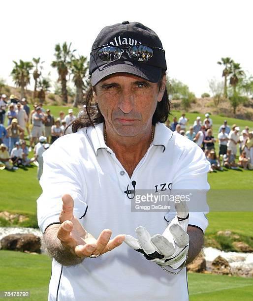 Alice Cooper wearing Izod at the Cascata Golf Club in Las Vegas Nevada