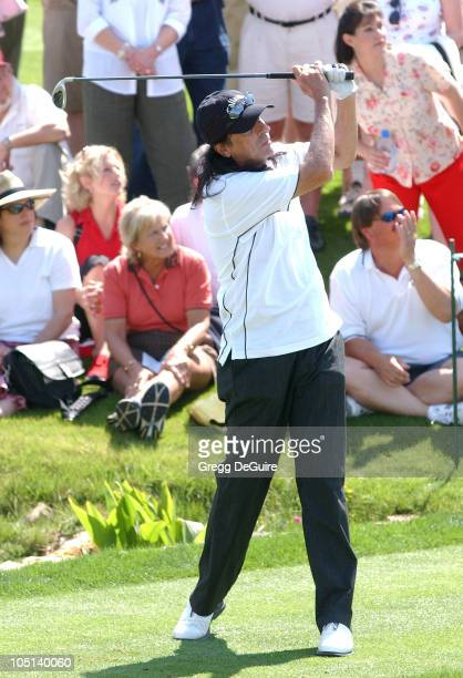 Alice Cooper wearing Izod during 5th Annual Michael Douglas And Friends Celebrity Golf Tournament Presented By Lexus and Izod To Benefit The Motion...
