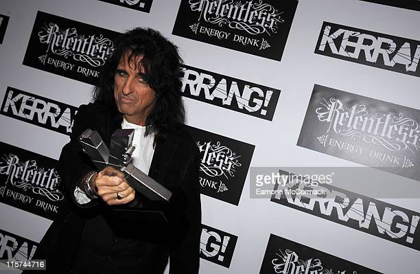 Alice Cooper with his Icon award during The Relentless Energy Drink Kerrang Awards at The Brewery on June 9 2011 in London England