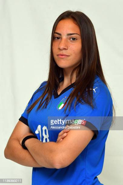 Alice Corelli of Italy U16 Woman poses for the photo on April 26 2019 in Gradisca d'Isonzo Italy