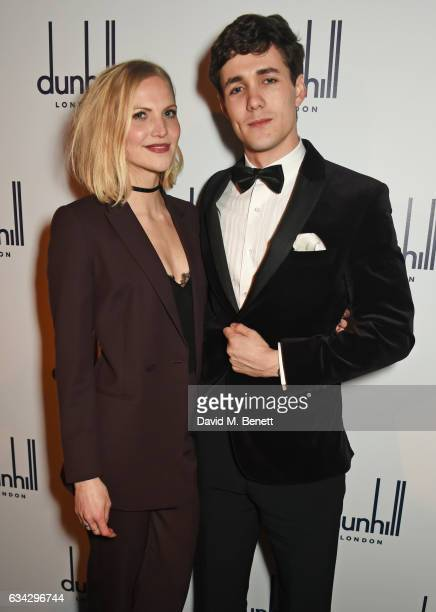 Alice Davey and Jonah HauerKing attend the dunhill and Dylan Jones preBAFTA dinner and cocktail reception celebrating Gentlemen in Film at Bourdon...