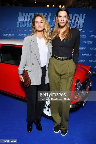 Alice David and Charlotte Gabris attend The Nicky Larson Et Le Parfum De Cupidon Premiere February 01 2019 in Paris France