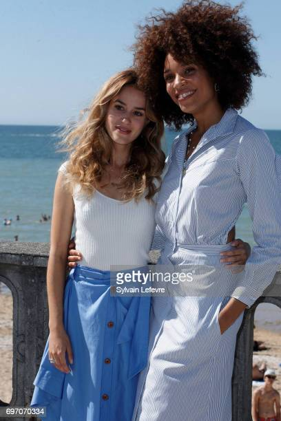 Alice David and Stefi Celma attend 'Les ex' photocall during 4th day of 31st Cabourg Film Festival on June 17 2017 in Cabourg France