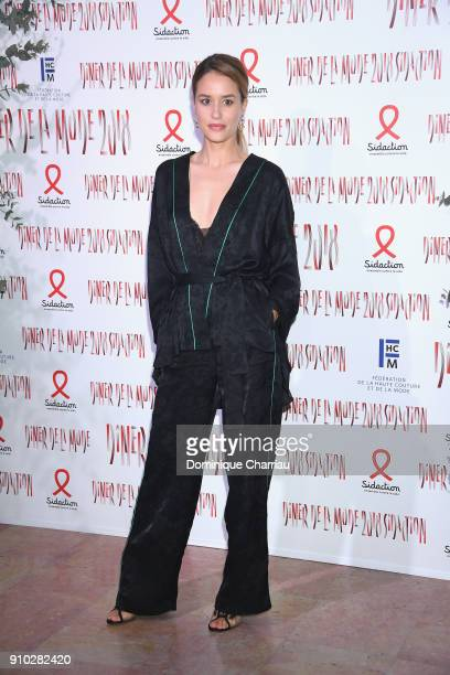 Alice David attends the 16th Sidaction as part of Paris Fashion Week on January 25 2018 in Paris France