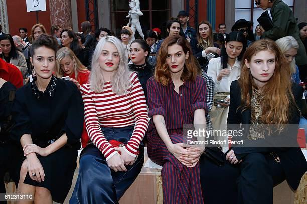 Alice David Lou RoyLecollinet Luna PicoliTruffaut and Agathe Bonitzer attend the Sonia Rykiel show as part of the Paris Fashion Week Womenswear...