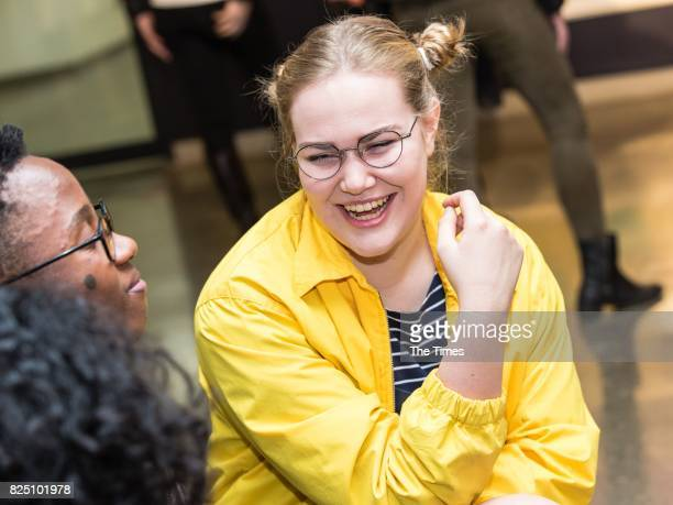 Alice De Beer during the opening of the Andy Warhol exhibition at the Wits Art Museum on July 26 2017 in Johannesburg South Africa The exhibition is...