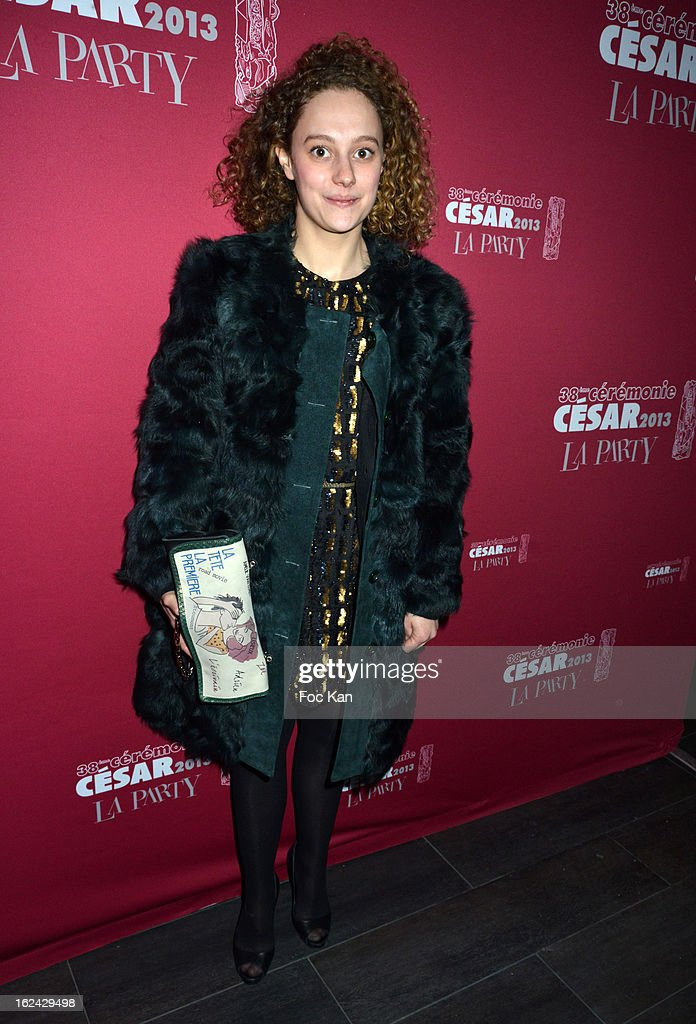 Alice de Lencquesaing attends the Cesar Film Awards 2013 after party at the Club 79 on February 22, 2013 in Paris, France.