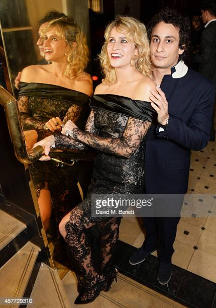 Alice Dellal and Alex Dellal attend the Charlotte Olympia 'Handbags for the Leading Lady' launch dinner at Toto's Restaurant on October 23 2014 in...