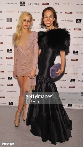 Alice Dellal and Andrea Dellal attend the Love Ball London hosted by Natalia Vodianova and Harper's Bazaar as part of London Fashion Week...