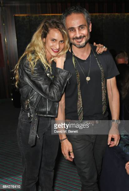 Alice Dellal and Ara Vartanian attend a private dinner celebrating the launch of the KATE MOSS X ARA VARTANIAN collection at Isabel on May 17 2017 in...
