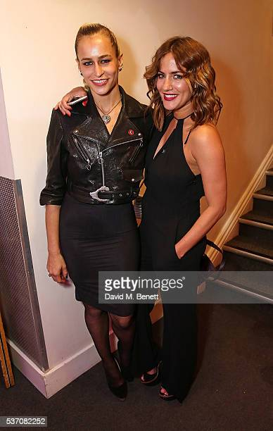 Alice Dellal and Caroline Flack attend End of Silence charity event at Abbey Road Studios in aid of Hope and Homes for children on June 1 2016 in...