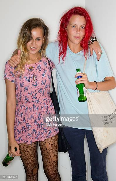 Alice Dellal and Laura Fraser attend the Dazed and Confused Party at Diesel on July 30 2008 in London England