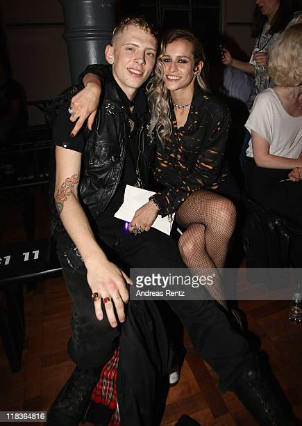 Alice Dellal and Sullivan Cayless attend the Diesel Show during MercedesBenz Fashion Week Berlin Spring/Summer 2012 on July 6 2011 in Berlin Germany