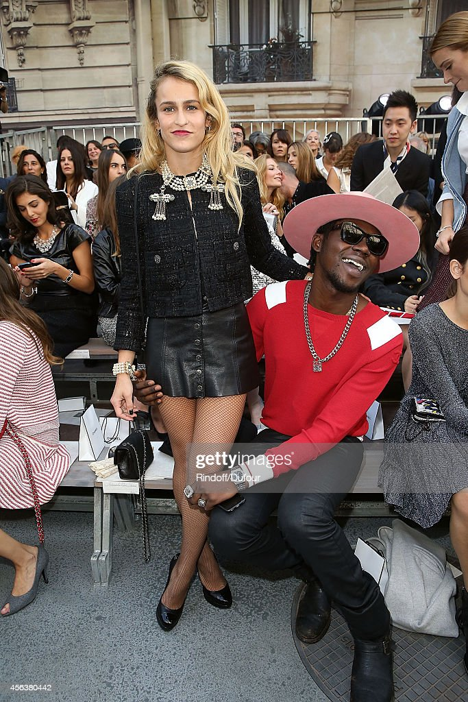 Alice Dellal and Theophilus London attend the Chanel show as part of the Paris Fashion Week Womenswear Spring/Summer 2015 on September 30, 2014 in Paris, France.