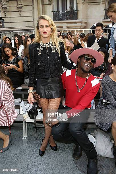 Alice Dellal and Theophilus London attend the Chanel show as part of the Paris Fashion Week Womenswear Spring/Summer 2015 on September 30 2014 in...