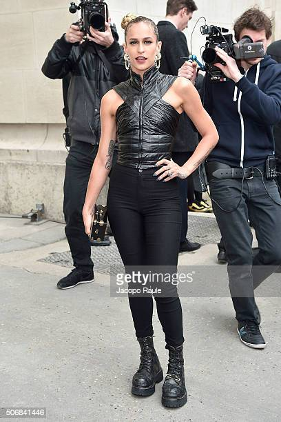 Alice Dellal arrives at the Chanel fashion show Paris Fashion Week Haute Coture Spring /Summer 2016 on January 26 2016 in Paris France