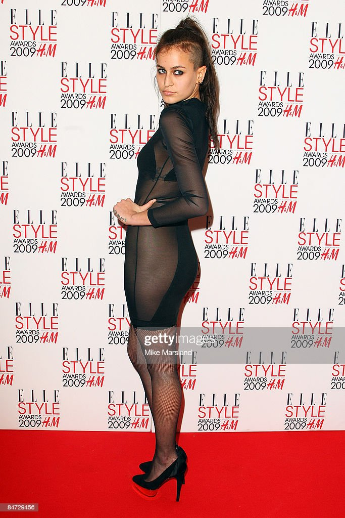 Alice Dellal arrives at the Elle Style Awards 2009 at Big Sky Studios on February 9, 2009 in London, England.