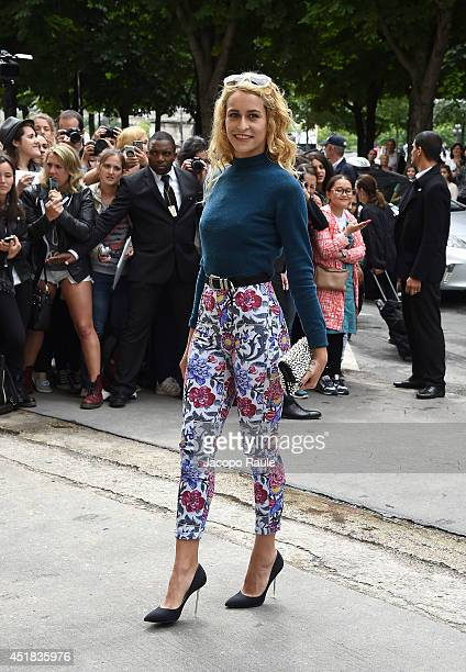 Alice Dellal arrives to attend the Chanel show as part of Paris Fashion Week Haute Couture Fall/Winter 20142015 on July 8 2014 in Paris France