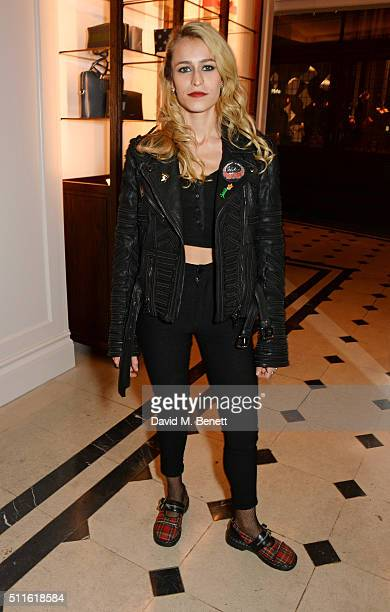 Alice Dellal attend as mytheresacom and Burberry celebrate the new MYT Woman at Thomas's on February 21 2016 in London England