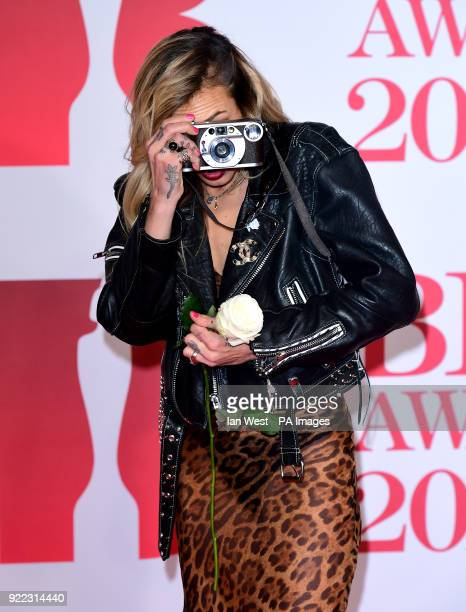 Alice Dellal attending the Brit Awards at the O2 Arena London