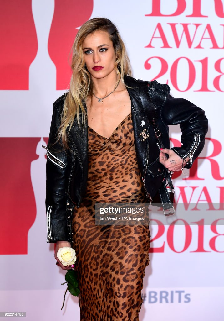 Alice Dellal attending the Brit Awards at the O2 Arena, London.