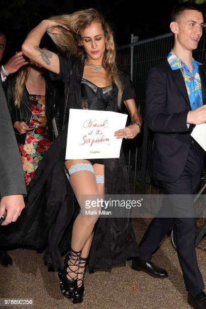 Alice Dellal attending the Serpentine Gallery and Chanel Summer Party 2018 on June 19 2018 in London England