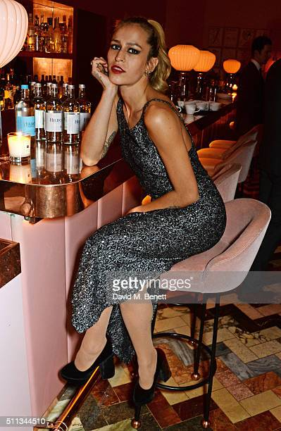 Alice Dellal attends as James Gager Senior Vice President Group Creative Director of MAC Cosmetics and Charlotte Olympia Dellal host a dazzling...