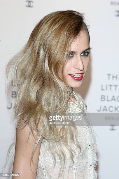 Alice Dellal attends CHANEL 'The Little Black Jacket' Exhibition Opening by Karl Lagerfeld and Carine Roitfeld on November 20 2012 in Berlin Germany