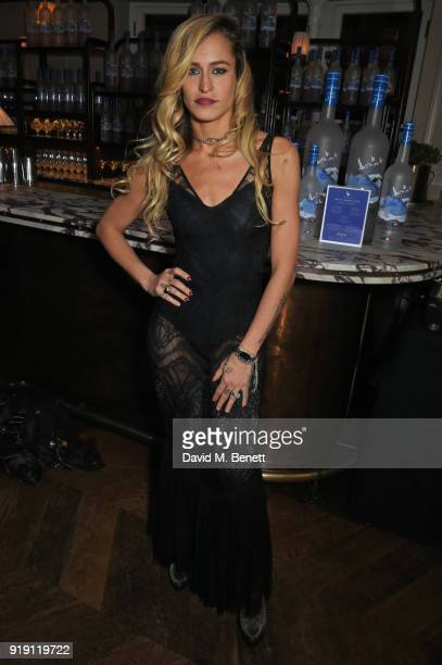 Alice Dellal attends Grey Goose Vodka and GQ Style's dinner in celebration of film and fashion at Kettner's on February 16 2018 in London England