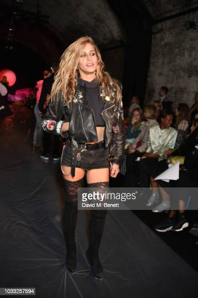 Alice Dellal attends the Ashley Williams front row during London Fashion Week September 2018 at House of Vans on September 14 2018 in London England