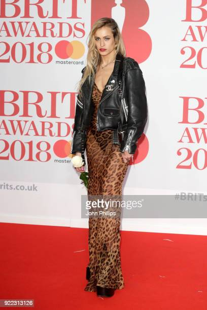 AWARDS 2018*** Alice Dellal attends The BRIT Awards 2018 held at The O2 Arena on February 21 2018 in London England