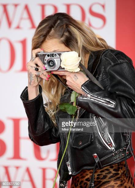 AWARDS 2018 *** Alice Dellal attends The BRIT Awards 2018 held at The O2 Arena on February 21 2018 in London England