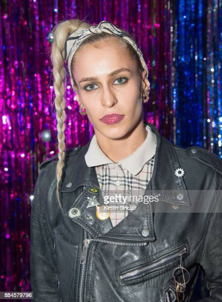 Alice Dellal attends the Burberry x Cara Delevingne Christmas Party on December 2 2017 in London England