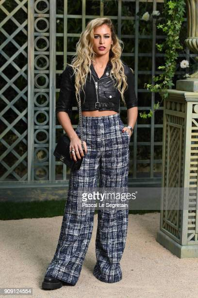 Alice Dellal attends the Chanel Haute Couture Spring Summer 2018 show as part of Paris Fashion Week on January 23 2018 in Paris France