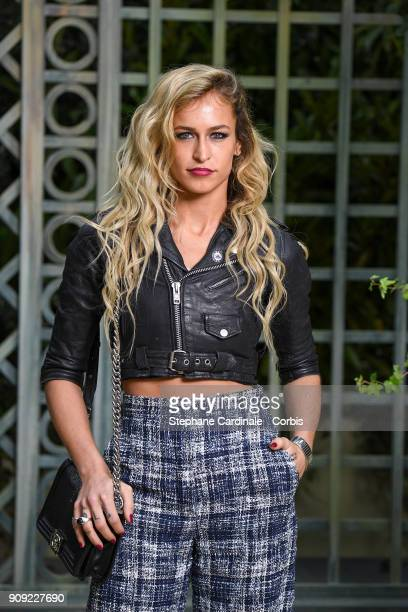 Alice Dellal attends the Chanel Haute Couture Spring Summer 2018 show as part of Paris Fashion Week January 23 2018 in Paris France