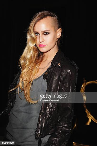 Alice Dellal attends the Dolce Gabbana show as part of Milan Fashion Week Autumn/Winter 2008/09 on February 18 2008 in Milan Italy