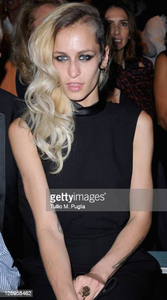 Alice Dellal attends the Ermanno Scervino Spring/Summer 2012 fashion show as part Milan Womenswear Fashion Week on September 22 2011 in Milan Italy