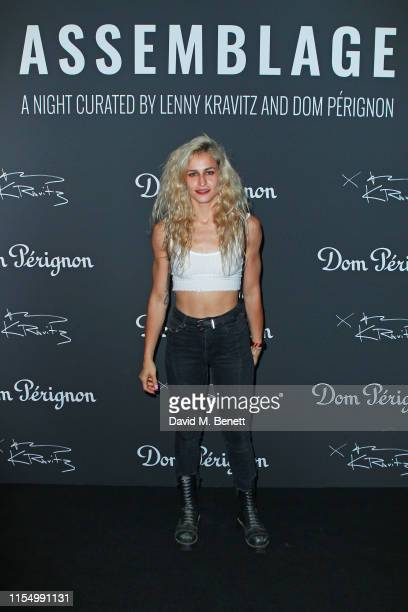 Alice Dellal attends the Lenny Kravitz & Dom Perignon 'Assemblage' exhibition, the launch Of Lenny Kravitz' UK Photography Exhibition, on July 10,...