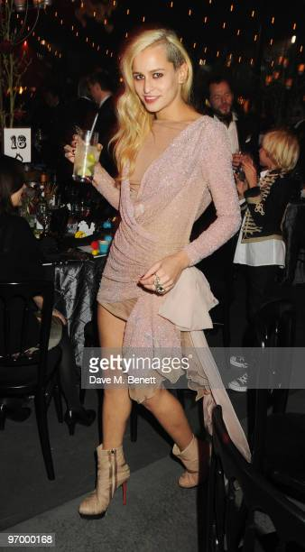 Alice Dellal attends the Love Ball London at the Roundhouse on February 23 2010 in London England