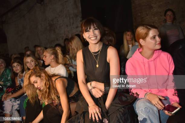 Alice Dellal Daisy Lowe and Pixie Geldof attend the Ashley Williams front row during London Fashion Week September 2018 at House of Vans on September...