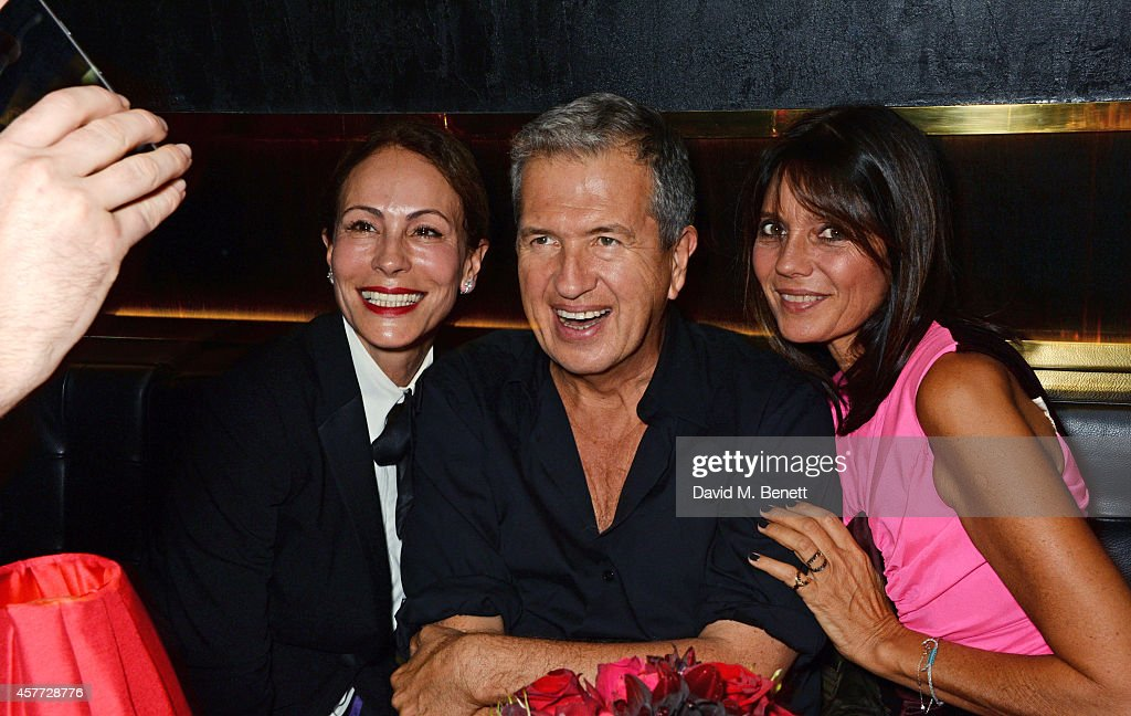 Alice Dellal, Mario Testino and Countess Debonaire Von Bismarck attend the Charlotte Olympia 'Handbags for the Leading Lady' launch dinner at Toto's Restaurant on October 23, 2014 in London, England.