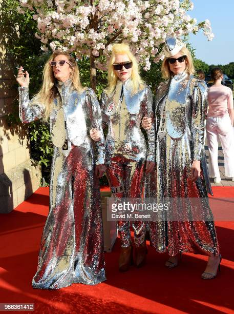 Alice Dellal Pam Hogg and Tuuli Shipster attend the 2nd annual Jersey Style Awards in association with Bentley Motors Chopard and Ortac Aviation to...